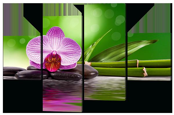 Модульная картина Орхидея и бамбук