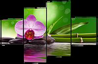 Модульная картина Орхидея и бамбук 160*114 см