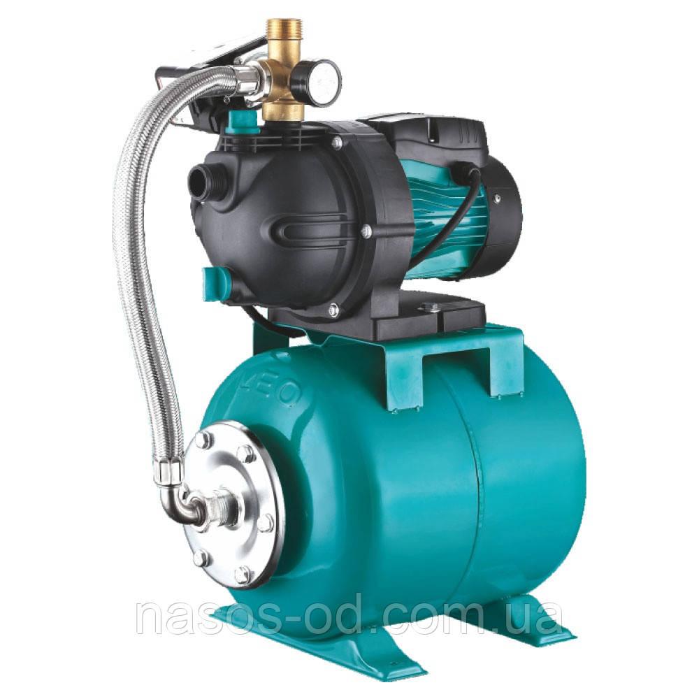 Насосная станция гидрофор Aquatica для воды 0.6кВт Hmax31м Qmax50л/мин (самовсасывающий насос, пластик) 24л