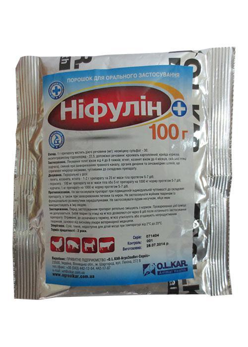 Нифулин плюс  100г (неомицин, окситетрациклин)