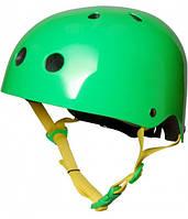 Шлем детский Kiddimoto неоновый зелёный