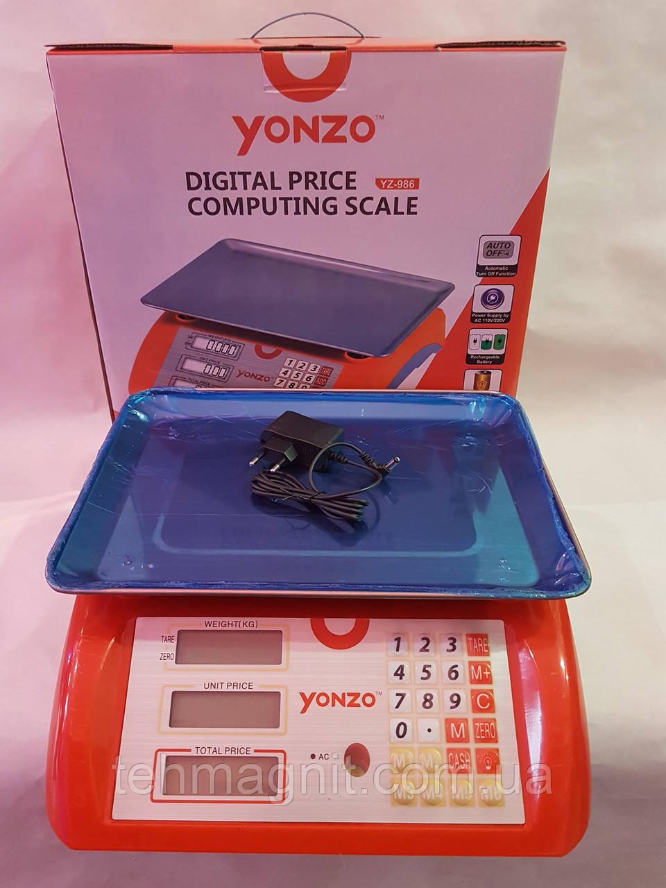 Електронні ваги торгові з калькулятором, з найбільшою межею зважування до 40 кг, ваги YONZO YZ-986