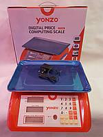 Весы электронные, торговые с калькулятором, с наибольшим пределом взвешивания до 40 кг, ваги YONZO YZ-986