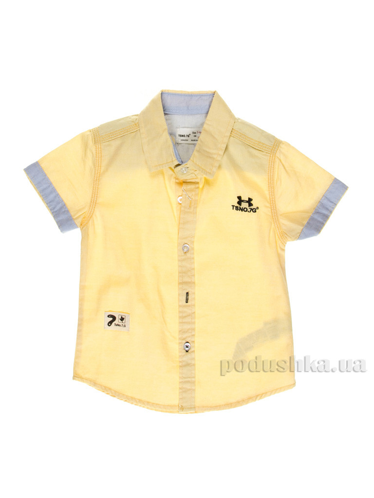 d08aa6ae0157 Рубашка для мальчика TSNO.7G 6987 желтая 110