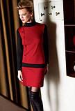 Бордовое платье с длинным рукавом Sisi, р. S/M