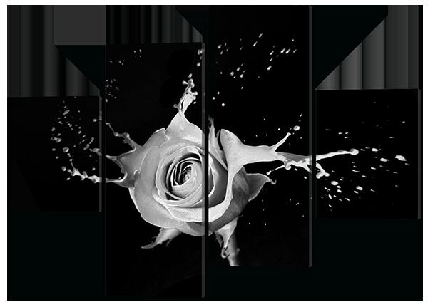 Картина модульная Роза в ретро стиле