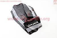 Чехол сиденья с красной каемкой 12V с надписью  JAWA на мотоцикл Ява