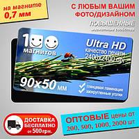 Магнитные визитки, толщина 0,7 мм. Размер 90х50 мм