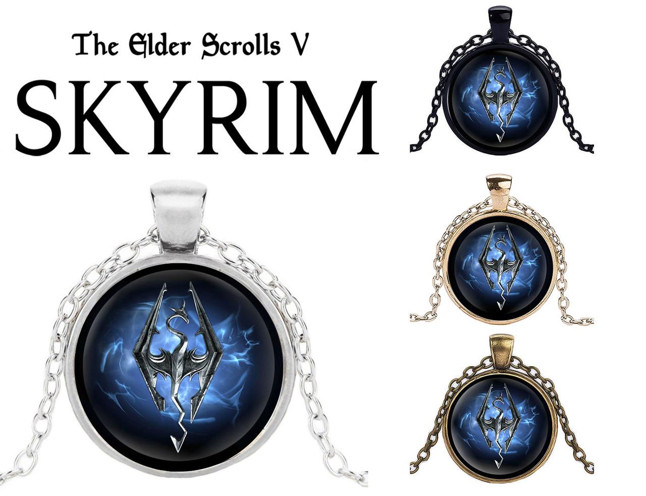 Кулон Skyrim Скайрим Blue edition