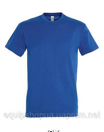 Футболка мужская с круглым воротом SOL'S IMPERIAL-11500  Синяя, s, фото 2