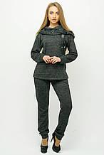 Красивый спортивный костюм Крокус черный (44-54)
