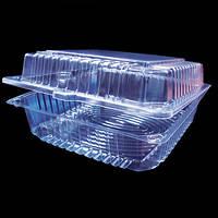 Пластиковая упаковка прямоугольная для кондитерских изделий и тортов  2215 ПЭТ