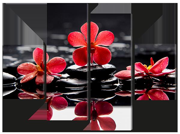 Модульная картина Красное и черное