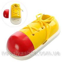 Деревянная игрушка Шнуровка Ботинок кеды обувь, MD 0966, 004632