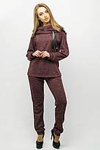 Красивый спортивный костюм Крокус бордовый (44-54)