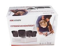 Комплект видеонаблюдения IP Hikvision PoE NK4E0-1T, фото 2