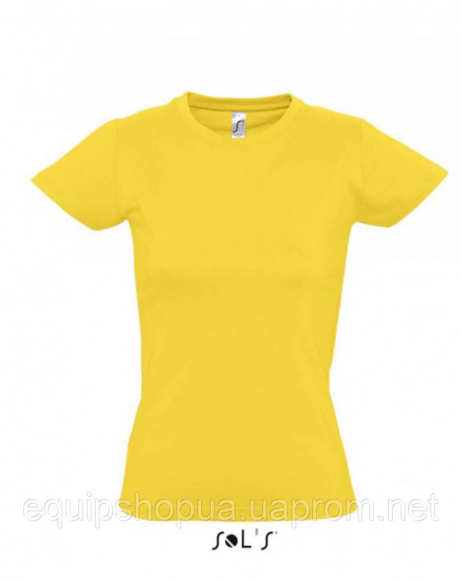 Футболка женская с круглым воротом SOL'S IMPERIAL WOMEN-11502 Жёлтый, xxl