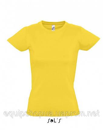 Футболка женская с круглым воротом SOL'S IMPERIAL WOMEN-11502 Жёлтый, xxl, фото 2