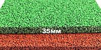 Резиновая плитка Premium Eco Standard, 500*500*35 мм