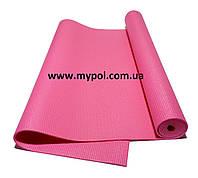 Коврик для йоги, йога мат 4 мм, розовый