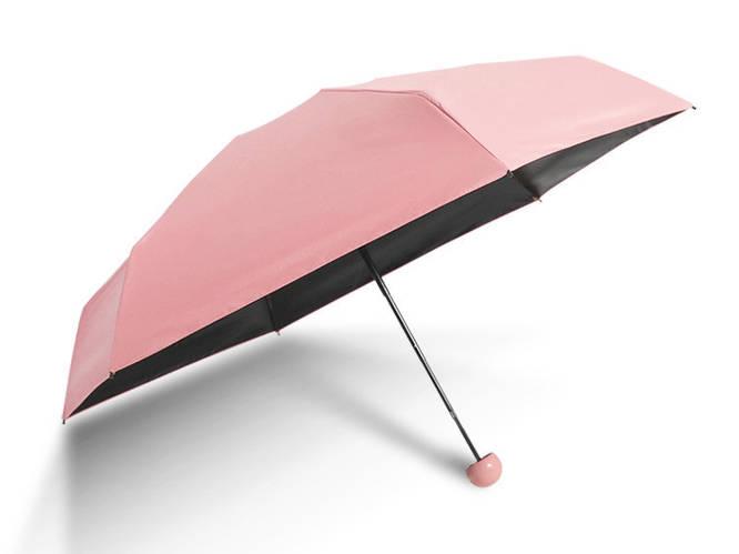Зонт маленький женский розовый