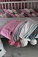 Детский велюровый плед в кроватку 100 х 80 см (цвет под заказ), фото 7