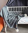 Детский велюровый плед в кроватку 100 х 80 см (цвет под заказ), фото 2