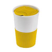 Термокружка, пищевой полипропилен BPA free, желтая, 350 мл