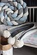 Детский велюровый плед в кроватку 100 х 80 см (цвет под заказ), фото 3
