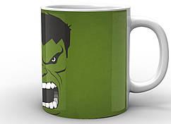Кружка Geek Land Халк Hulk зеленый фон  HU.02.001