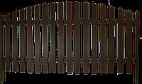 Забор из металлического штакетника | Заборы из штакетника | Забор из евроштакетника