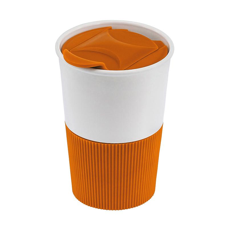 Термокружка, пищевой полипропилен BPA free, оранжевая, 350 мл, от 10 шт