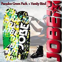 Подростковый комплект для вейкбординга Jobe Paradox Green Pack. + Vanity Bind.