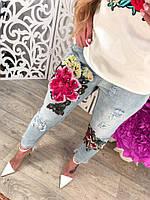 Женские джинсы с аппликацией DB-5202