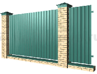Забор из металлопрофиля | Заборы из профнастила металлические | Строительство заборов из профлиста