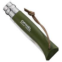 Складной нож с деревянной ручкой и темляком Opinel Inox Origins Khaki No.08 001703, фото 2