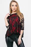Модная кофта Арина бордовый(44-52)