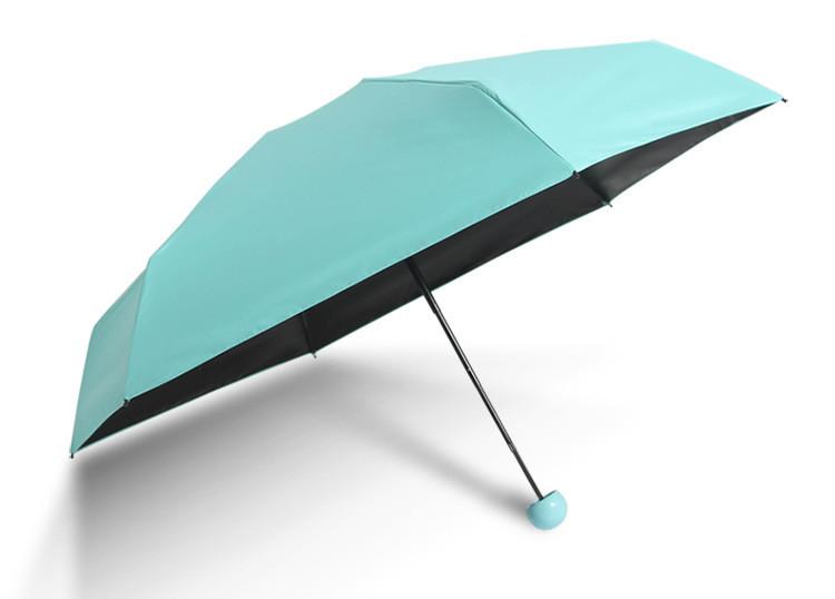 Зонт маленький женский голубой