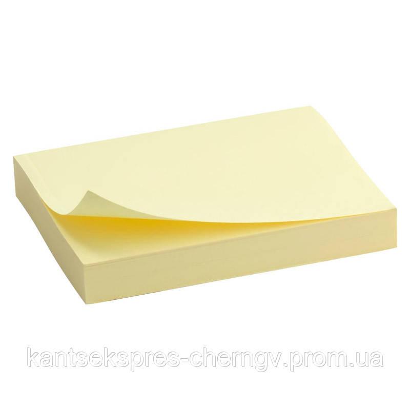 Блок бумаги с липким слоем Delta D3312-01 50x75 мм, 100 листов, желтый