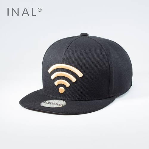 Бейсболка, Wi-Fi, L / 57-58 RU, 80% Акрил 20% Шерсть, Черный,Inal