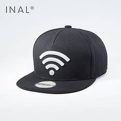 Кепка бейсболка, Wi-Fi, L / 57-58 RU, 80% Акрил 20% Шерсть, Черный, Inal