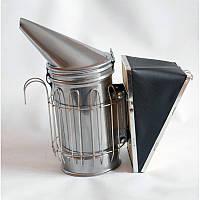 Дымарь пасечный со съемным мехом с ограждением окрашенный