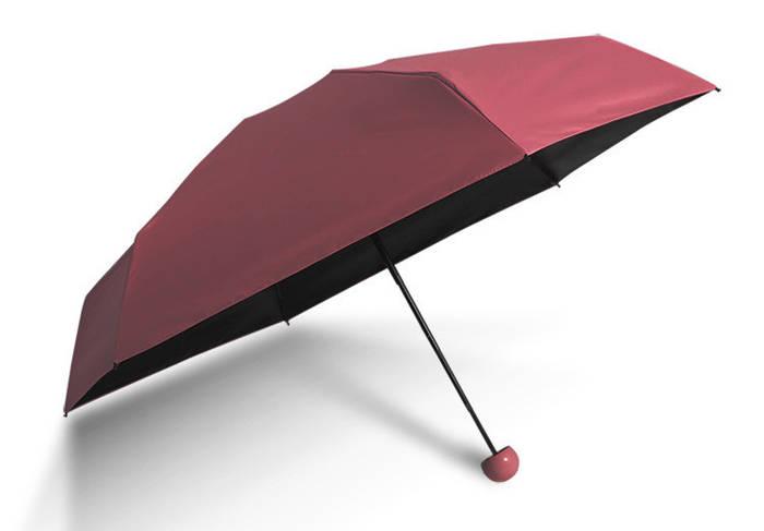 Зонт маленький бордовый
