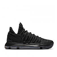 Мужские кроссовки Nike KD 10 Fingerprint Tripple Black