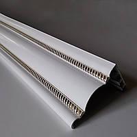 Карниз алюминиевый 2-х рядный К-54 бежевый, белый (74*56 мм)