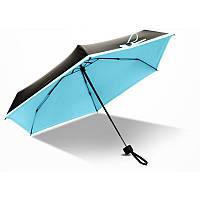 Мини зонт голубой