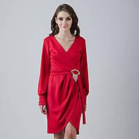 """Красное нарядное платье с длинными рукавами """"Элина"""""""