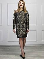 Платье мини с драпировкой размер S