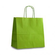 Крафт-пакет 25x11x24 светло-зеленый с витыми ручками