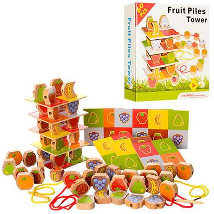 Деревянная шнуровка A20 (фрукты и ягоды), фото 2